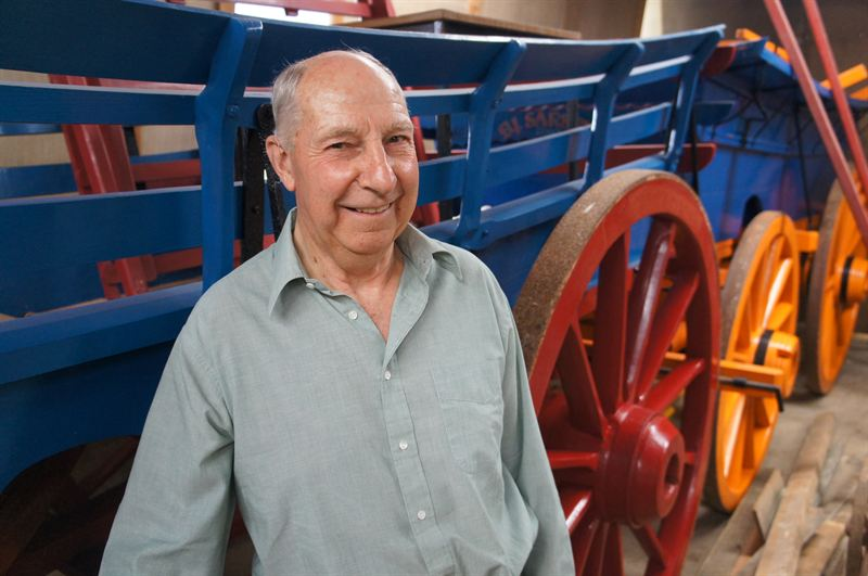 Brian Sarsby will be appearing with some of his wagons at the Colby Show Day Colby Church August 5th