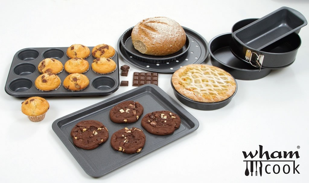 The Wham Cook range of bakeware, ideal for devotees for The Great British Bake Off