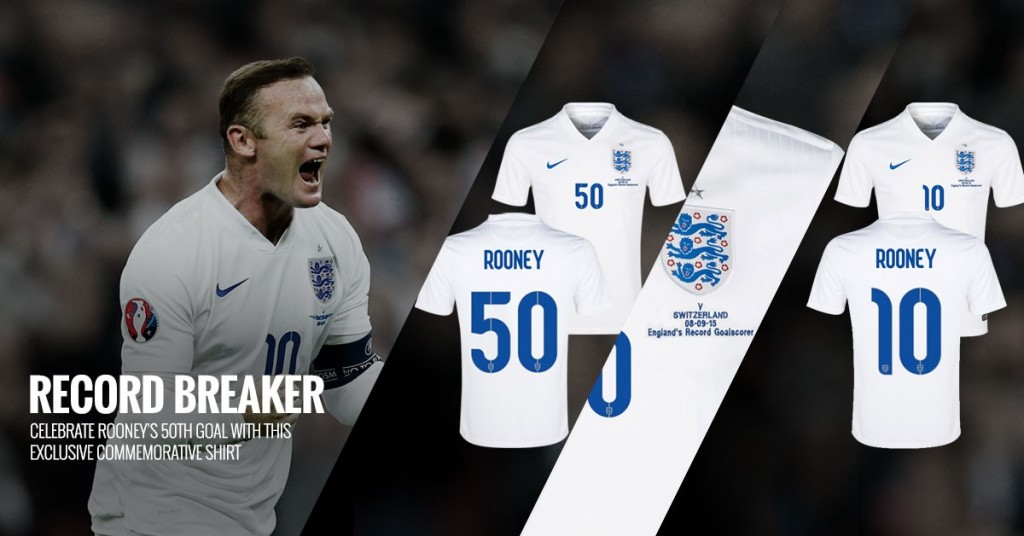Wayne Rooney 50th Goal Commemorative Shirt