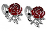 tlsc england rugby rose and rugby ball cufflinks