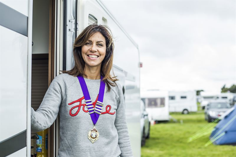 Club President Julia Bradbury at NFOL 2014